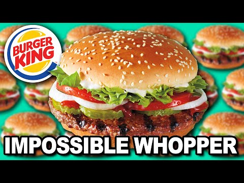 We Try The IMPOSSIBLE WHOPPER 🍔👑 Burger King