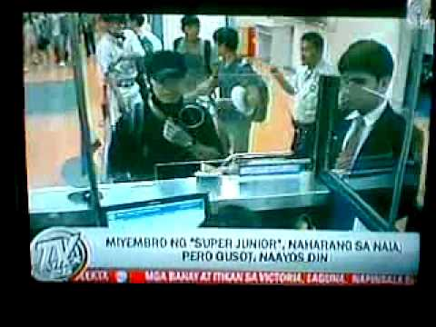 081412 TV Patrol Super Junior Siwon and Donghae blocked at NAIA