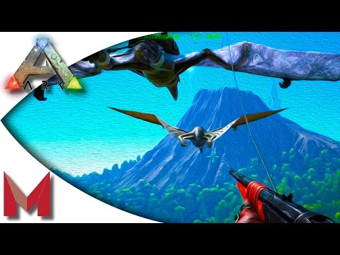 ARK: Survival Evolved - Taming a Quetzal w/ the Grappling Hook! S3E44 Gameplay