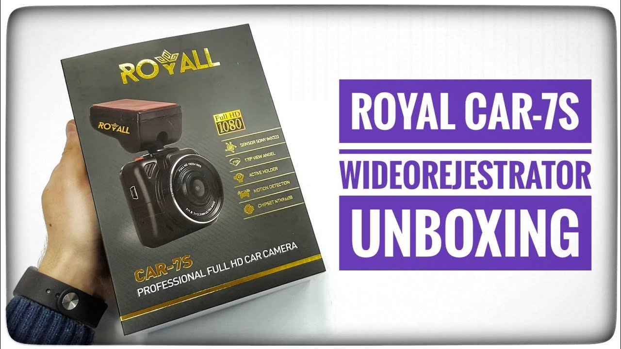 Wideorejestrator ROYALL CAR-7S Sony IMX322 Unboxing
