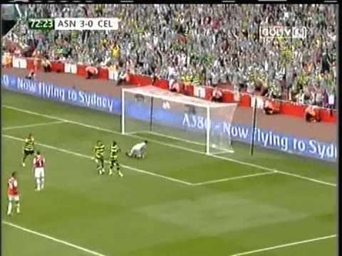 2010 (August 1) Arsenal (England) 3 -Celtic Glasgow (Scotland) 2 (Emirates Cup)