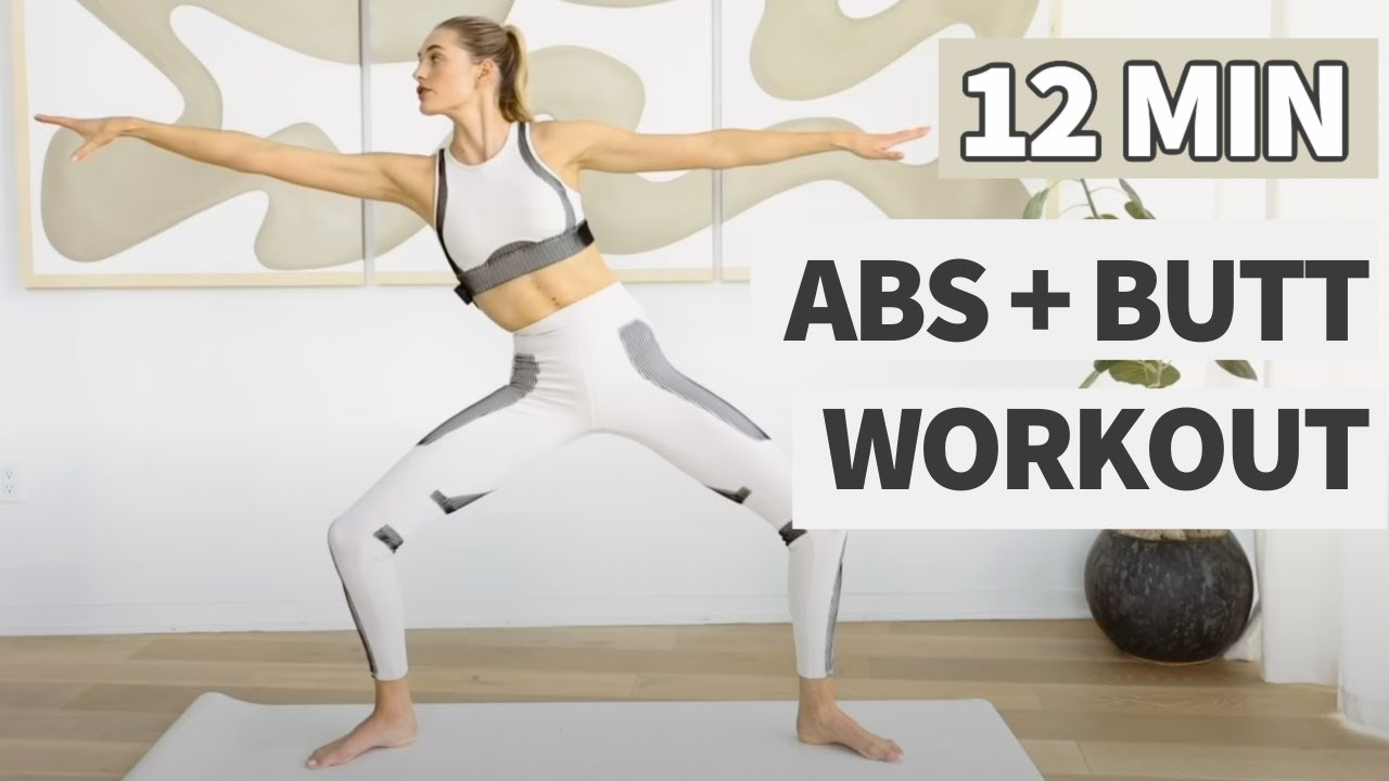 12 MIN ABS + BUTT WORKOUT // No Equipment // 2 in 1 // Sanne Vloet