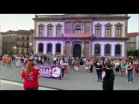 Concentraciones en Pontevedra en repulsa a la violencia machista