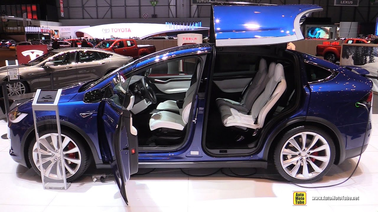 2016 tesla model x exterior and interior walkaround 2016 geneva motor show youtube