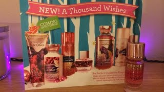 A Thousand Wishes Eau de Parfum Review - Bath & Body Works Holiday 2014 Thumbnail