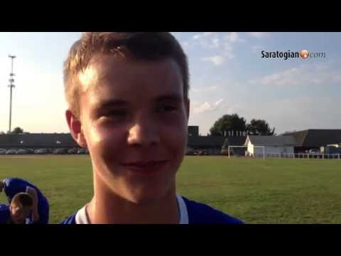 VIDEO Shaker's Patrick Mahoney talks about his goal, in 4-1 win vs. Saratoga soccer #518futbol