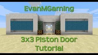 Minecraft Tutorial - 3x3 Piston Door (Works in all versions)