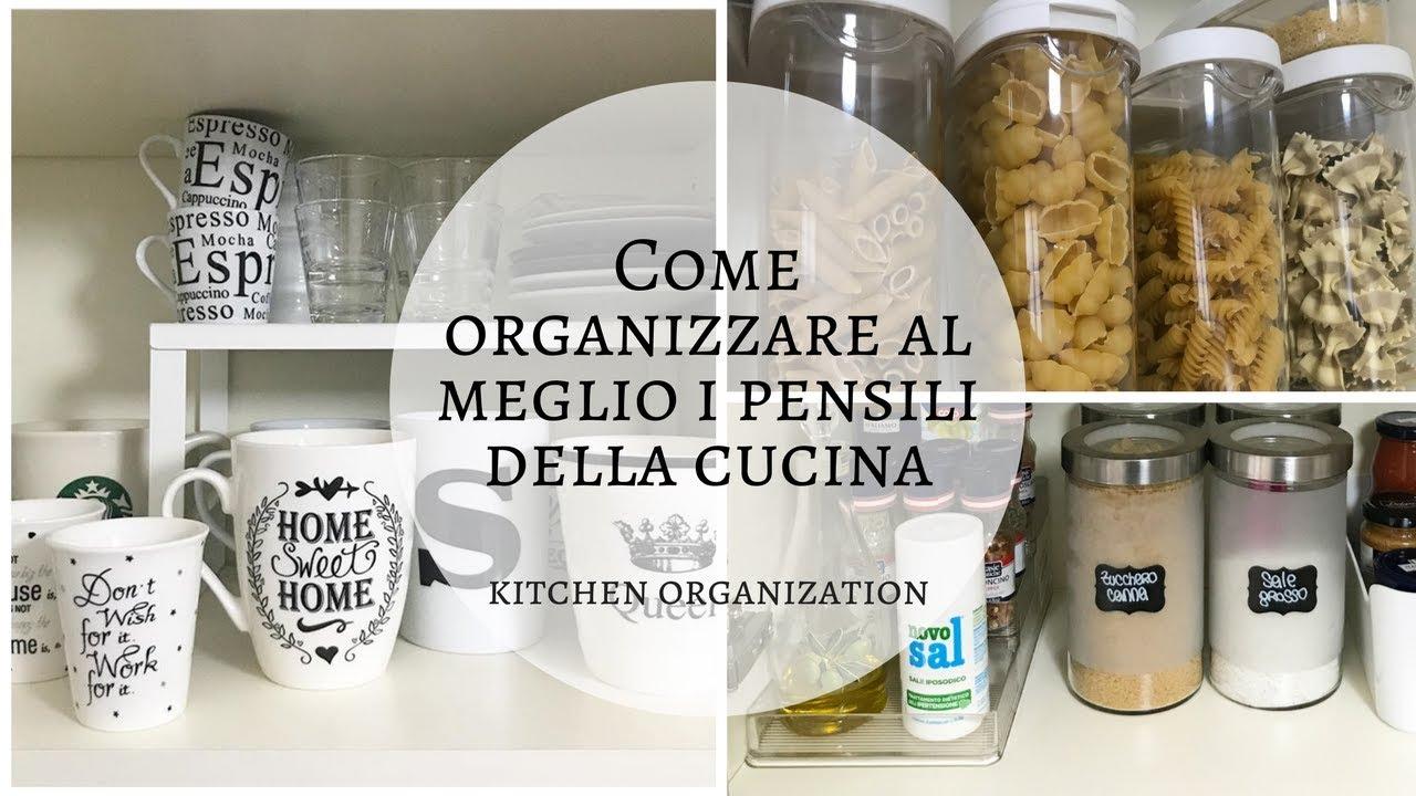 Organizzare la cucina  Come organizzare i pensili  YouTube