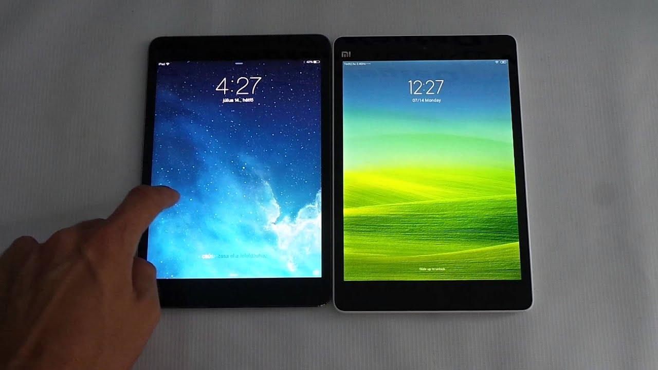 single rear xiaomi mi pad vs ipad mini 3 has