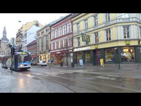 Trams in Oslo, Norway - Winter 2017 - Trikken i Oslo