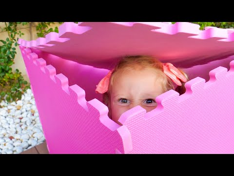 Nastya plays hide and seek with funny dolls