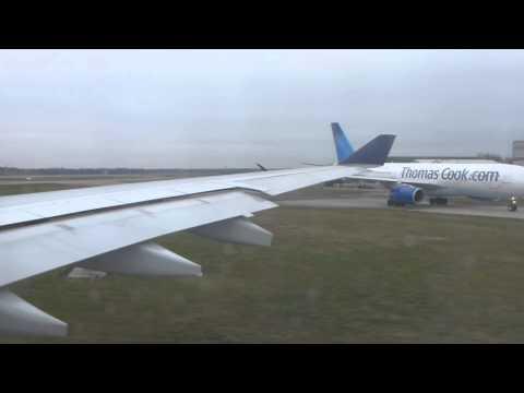 US Airways Airbus A330-200 Takeoff from Manchester (MAN/EGCC)  - N284AY HD