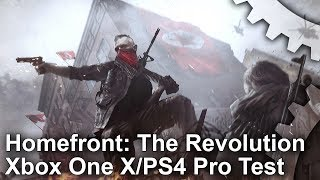 [4K] Homefront The Revolution: Xbox One X vs PS4 Pro/Xbox One Graphics Comparison + Frame-Rate Test