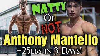 Is Gymshark Athlete Anthony Mantello Natty OR Not? Gaining 25 lbs in 3 Days???