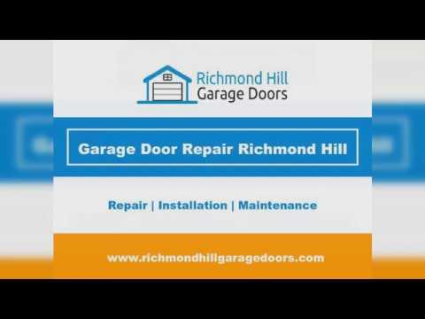 Garage Door Repair Installation Services In Richmond Hill Youtube