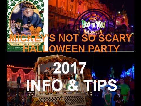 disney worldmickeys not so scary halloween party 2017 info tips