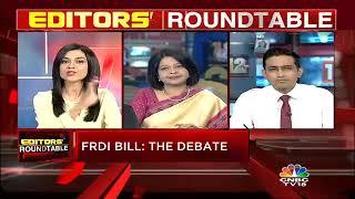FRDI Bill Debate || Bank Deposits: The Concerns || Editors' Roundtable || CNBC TV18