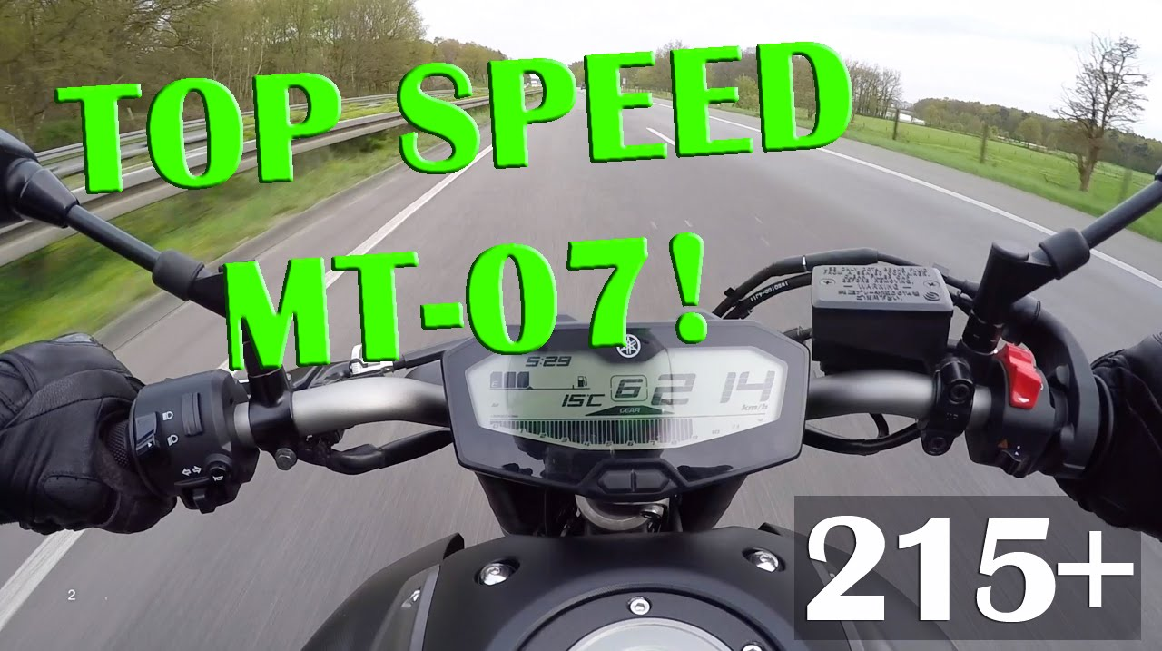 Yamaha mt 07 top speed