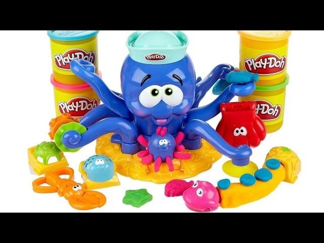 Polvo Divertido Massinha Play-Doh Octopus Playset Animais Marinhos Play Dough Ocean Animals 20390 Vídeos De Viagens