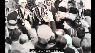 Congresso della Radio. Visita di Guglielmo Marconi alla scuola di perfezionamento di