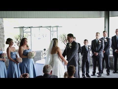 Outdoor Wedding Ceremony at Shakespeare's Restaurant and Pub in Ellwood City