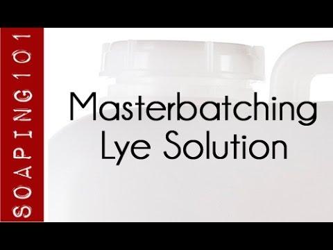 Masterbatching Lye for Soapmaking S2W39