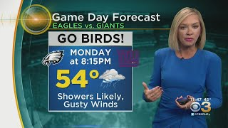 Philadelphia Weather: Wet And Windy For Eagles-Giants Monday Night Football Game