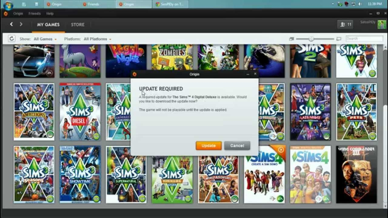 Origin : The Sims 4 Game Update Issue (SOLVED!)