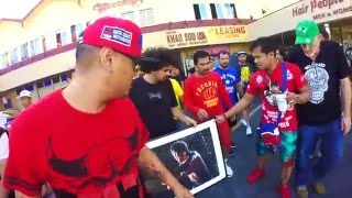 PACQUIAO HONORS THE LOCAL ICE CREAM MAN! BTS: Training camp
