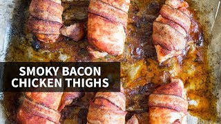BACON CHICKEN THIGHS: paleo + low carb