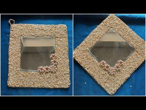 Diy  pebbles mirror decor ideas