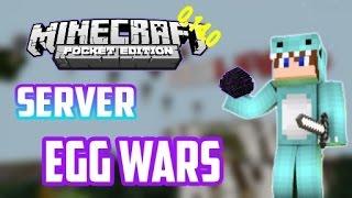 EGG WARS IGUAL A PC!! Minecraft PE 0.14.0!!