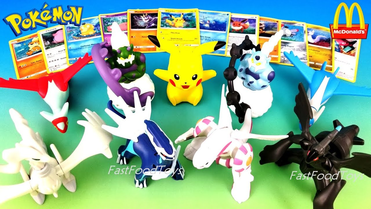 2018 Mcdonalds Pokemon Cards Happy Meal Toys Free Holo Tcg