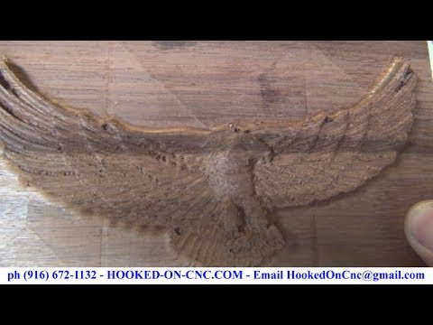 Rosettes CNC Machine 3D Wood Carving Eagle With Wings Open ...