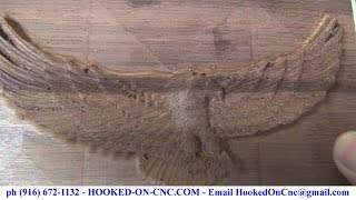 Cnc Machine 3d Wood Carving Eagle With Wings Open
