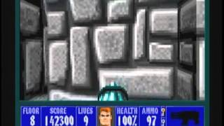 Wolfenstein 3D (100%) Walkthrough (E2M8)