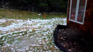 Crazy Hail Storm In Beverly Shores Indiana