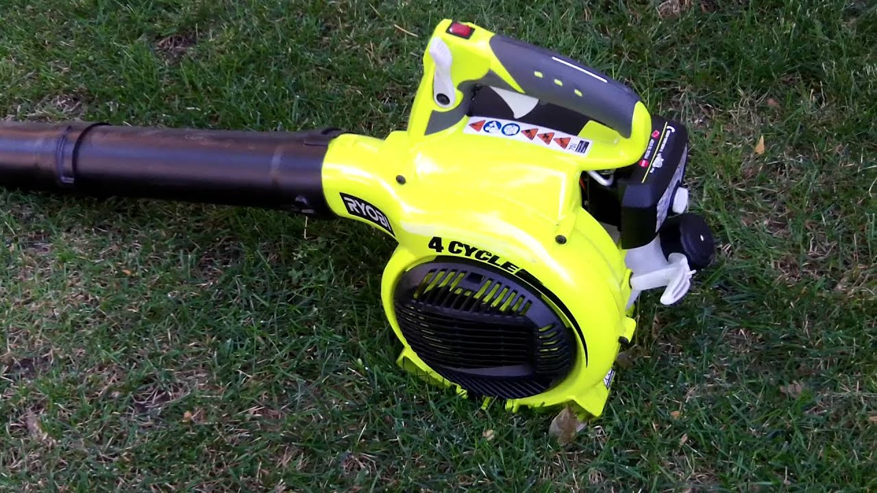 Ryobi 4 Cycle Leaf Blower No Mixed Gas Required Youtube