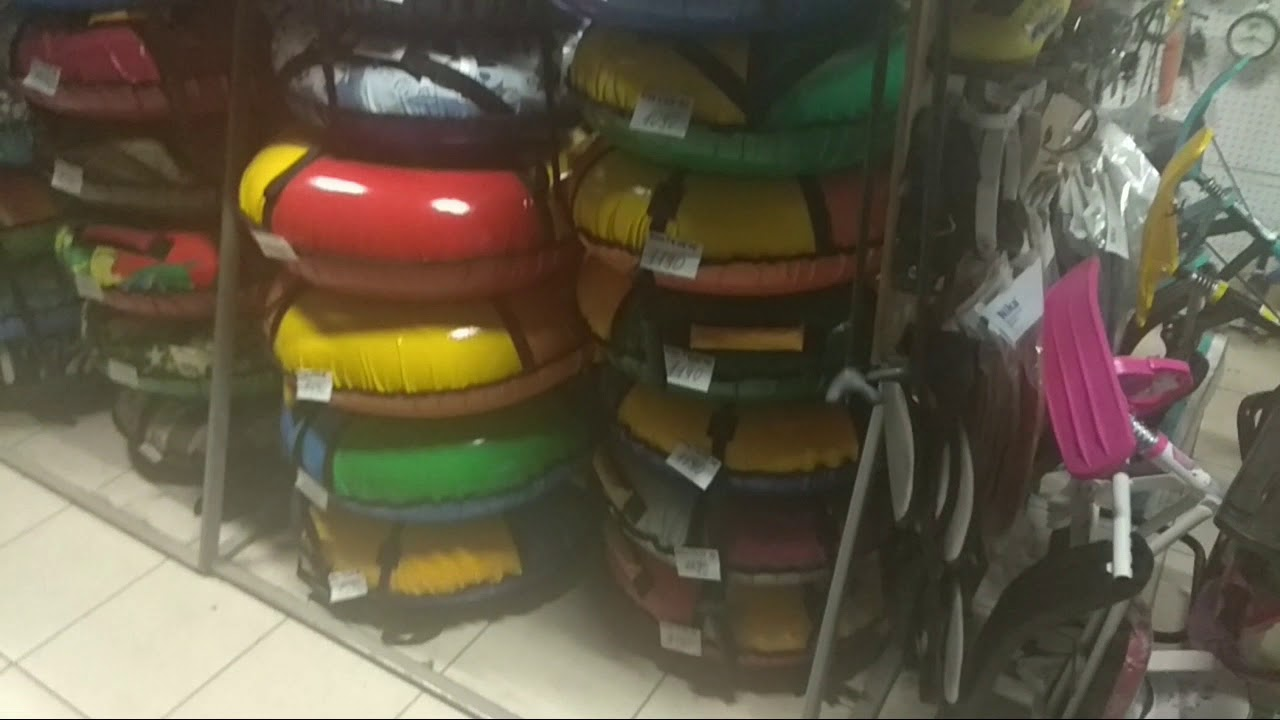 Как выбрать надувные санки ватрушки тюбинг - YouTube