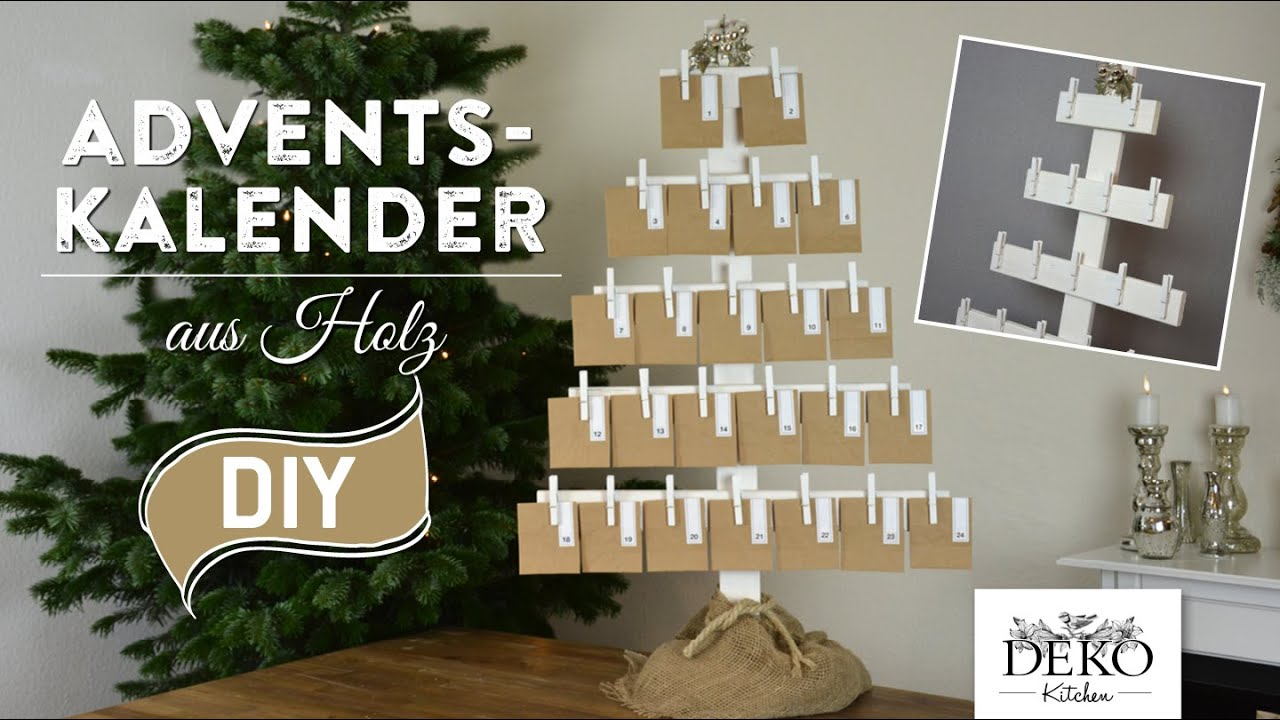 adventskalender basteln gro er adventskalender aus holz how to deko kitchen youtube. Black Bedroom Furniture Sets. Home Design Ideas