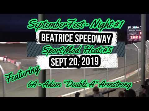 09/20/2019 Beatrice Speedway SeptemberFest SportMod Heat #5