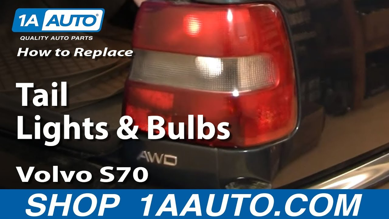 hight resolution of how to install replace broken tail light and bulb volvo s70 98 00 1aauto com youtube
