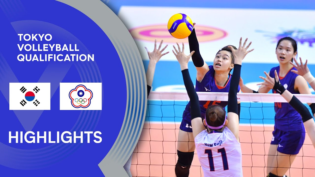 Korea vs. Chinese Taipei - Highlights | AVC Women's Tokyo Volleyball Qualification 2020