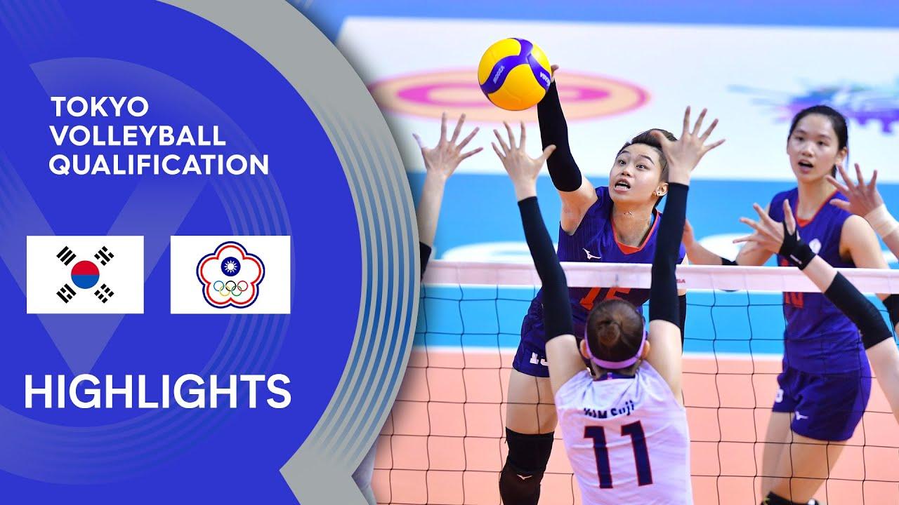 Korea vs. Chinese Taipei - Highlights | AVC Women's Tokyo Volleyball Qualification 2020