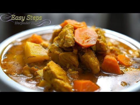 Chicken Curry With Carrot And Potatoes   Yellow Chicken Curry Recipe