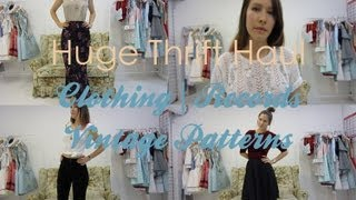 Huge thrifted haul | Clothing | Vintage Patterns | Records Thumbnail