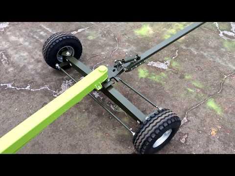 Тележка для жатки с поворотом колес на 90 градусов