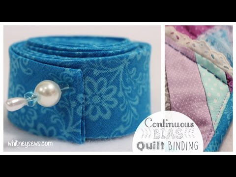 Continuous Bias Binding EASIEST METHOD  How To - Whitney Sews