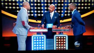 Steve Harvey gets mad on family feud