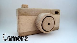 How to make a wooden toy camera. In this video I will show you an easy way to make a beautiful wooden toy camera. It